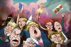 Why the anger and what does it mean for markets? Illustration / Rod Emmerson
