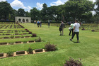 Kanchanaburi Cemetery in Thailand, where 13 New Zealand soldiers are buried. Photo / Lincoln Tan