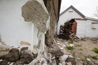 Damage to historic church in Waiau. New Zealand Herald Photograph by Mike Scott.