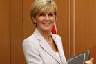 Australian Foreign Minister Julie Bishop. Photo / AP