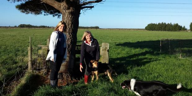 Wools of New Zealand director Lucy Griffiths spends some time on the farm in Invercargill with her mother Elizabeth Cruickshank. Photos / Supplied.