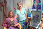 Te Awamutu artists Debsi Gillespie (right) and Greta Cabrita will showcase their works at an exhibition in Hamilton this month.