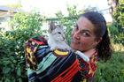 Te Awamutu woman Angela Sylvia with rescue cat Poppy.