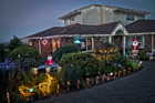 Bay of Plenty Times' Christmas Lights winners Kevin and Carol Torr's home on Kaitemako Road. Photo/Andrew Warner