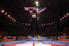 Tom Walsh of New Zealand celebrates winning the Shot Put Mens Final during the IAAF World Indoor Championships. Photo / Getty Images