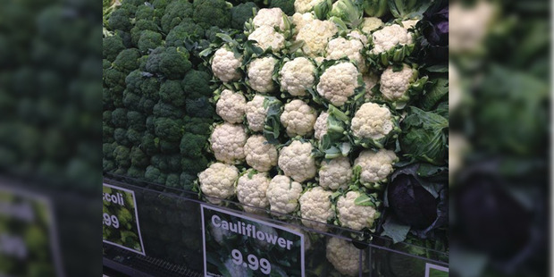 Loading Cauliflower was $9.99 at New World in Wellington yesterday. Photo / Supplied
