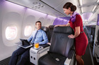 The business class section of Virgin Australia Boeing 737. Photo / Supplied