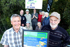 Friends of Gordon Park got a weedbuster award for their work in 2014. At front are Rod Pearce (left) and Colin Ogle. Photo / file