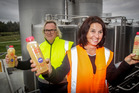 Hawke's Bay Apple Press founder and managing director Ross Beaton with head of innovation and strategy Sally Gallagher. Photo / Paul Taylor
