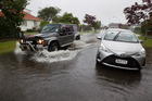 Flooding on Totara St. 12 January 2018 Rotorua Daily Post Photograph by Ben Fraser. RGP 13Jan18 - NZH 13Jan18 - Rotorua had flash flooding when 25mm of rain fell in an hour yesterday.Picture