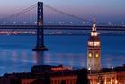 San Francisco's Ferry Building & Bay Bridge. Photo / Getty Images