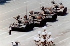 An anti-government protester defies the tanks in Beijing's Tiananmen Square in 1989. Photo / AAP/FOTOPRESS