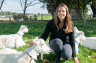 AgResearch scientist Dr Gosia Zobel with some of the goats used in a new study exploring the moods and personalities of farm animals. Photo / Aotearoa Science Agency