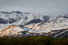 Snow captured on the Maungaharuru range west of Napier in April this year. Photo/Paul Taylor.