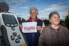 Ken and Janet Crispin have been monitoring truck movements and noise coming from the Hawke's Bay expressway near the Kennedy Rd overbridge. Photo / Paul Taylor