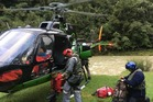 The man was put into an electric sleeping bag, plugged into the helicopter for power, during his rescue from beside the Waiau River in the ranges of Te Urewera.