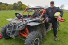 Mark Warren and his 4-wheel drive buggy at this year's Elsthorpe trail ride fundraiser for Elsthorpe Sports Club.