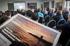 Minister of Fisheries and Napier MP Stuart Nash at the launch of the Hawke's Bay Marine and Coastal Group Research Roadmap at the East Pier Conference Centre on Friday. Photo/Paul Taylor