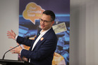 James Shaw, Climate Change Minister and Green Party leader, at the Zero Carbon Bill meeting in Whangarei.