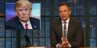 Watch: Seth Meyers calls Trump a 'shameless liar'