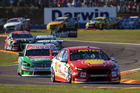 Scott McLaughlin nursed a sick car to second on Sunday in Darwin. Photo / Getty Images