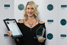 Natasha Stubbing, NRC marketing and engagement manager, with her national PR Award.