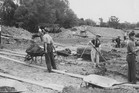 Constructing a stop bank at Waipukurau in the 1930s. Photo / H S Cottrell (d.1960), gifted by May Cottrell, collection of Hawke's Bay Museums Trust, Ruawharo Tā-ū-rangi, 4493