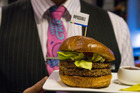 Air New Zealand could be doing our meat industry a favour with synthetic burgers, agriculture minister suggests. Photo / NZ Herald