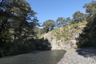 The site of the proposed 80-metre Ruataniwha Dam.