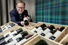 Nick Stewart of Stewart Group, Hastings, is putting his family's 20-year vertical collection of Te Mata Coleraine wine up for auction. Photo / Warren Buckland