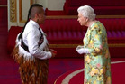 Whatuwhiwhi man Ezekiel Raui engaging with Her Majesty the Queen.