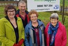 Midhirst branch of Rural Women members Lorna Davies and Margaret Vickers along with Rural Support Trust co-odinator Marcia and trustee Peter Ayles.