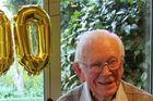 Fred Brooker celebrating his 100th birthday at Waikanae Lodge. Photo / Rosalie Willis