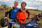 Trent McInlay broke his back three years ago now he is back racing with his dad Grant.  Photo/Bevan Conley
