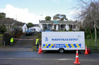 Leon Wilson is accused of pointing a sawn off shotgun at AOS members when they carried out a raid on this Pohutukawa Dr, Hamilton, home on Sunday. Photo / Doug Sherring
