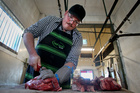 Justin Hinchco of Waipawa Butchery is one of four Bay butchers looking to carve a place in the national competition.  Photo / Warren Buckland