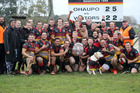 Ōhaupō Senior A rugby team in celebratory mood after winning the Waikato division 1A rugby final against Pirongia on Saturday.