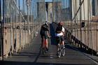 Cyclng the Brooklyn Bridge. Photo / Joe Buglewicz/NYC Go