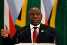 South African President Cyril Ramaphosa. Photo / AP