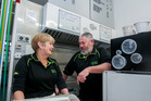 Mike and Desiree Persen are retiring from running the Westshore Fish Cafe in Napier. Photo / Paul Taylor