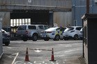 Police at scene of work place accident at CSP Coating Systems in Gavin St, Auckland this morning. Photo / Brett Phibbs