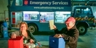 Watch: Sally Army food truck feeding the rescuers.