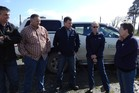 Council, Bay of Islands Watchdogs and SPCA representatives during last week's tour of Far North dog pounds. Photo / FNDC