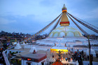 Boudhanath Stupa: Kathmandu's watchful Buddhist pilgrimage site. Photo / Narayan Maharjan, Getty Images