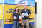 Yvonne and Andrew Eason with this year's haul of Totalspan awards.