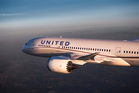 A United Airlines 787 Dreamliner.