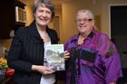 Author Shirley-Joy Barrow with Rt Hon Helen Clark who wrote the book's foreword. PICTURE / PAUL BROOKS