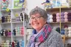 Linda Hale  in her Marton wool studio. Photo / Lin Ferguson.