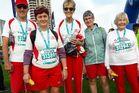 Te Awamutu Marathon Clinic members, from left, Ross Thomas, Cathy McCartney, Christine Ball and Phyl Jones.