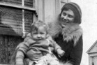 Robin Hyde and her son, Derek Challis, at Palmerston North in 1931.  Photo / Supplied